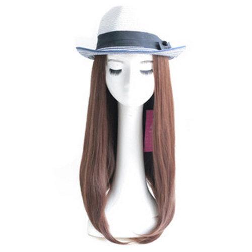 High Quality Fashion Lady Wig Romantic Straight Hair Wig Fashion Bob Light Brown