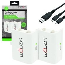 Venom Xbox One Rechargeable Battery Twin Pack - White