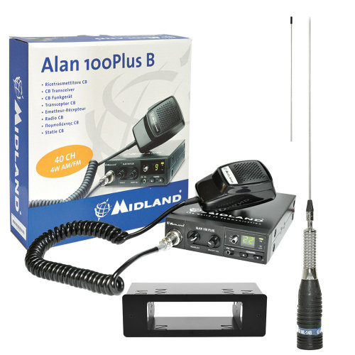 CB Radio Midland Alan+ 1DIN Case + ML145 CB antenna Wireless Cable