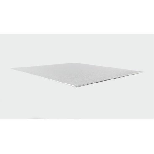 "4"" Thin Silver Square Cake Board 3mm Thick"