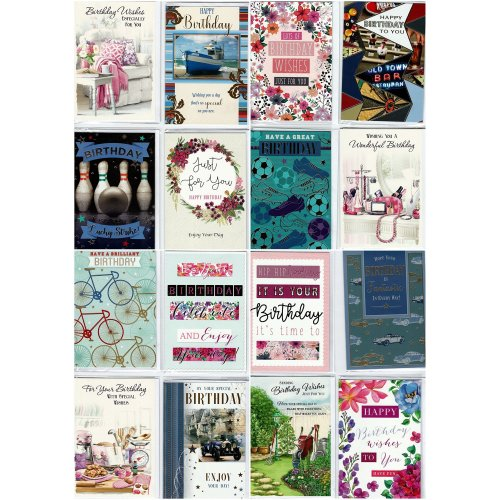 30 Assorted Design Birthday Greeting Cards