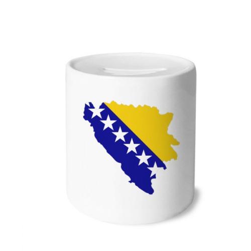 Bosnia and Herzegovina Map National Flag Money Box Saving Banks Ceramic Coin Case Kids Adults