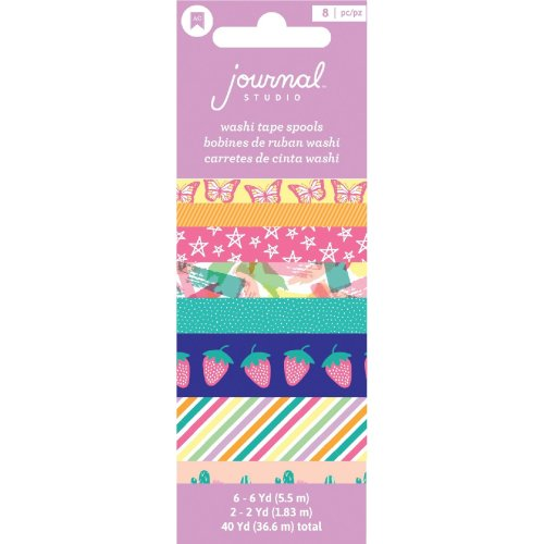 American Crafts Journal Studio Washi Tape 8/Pkg-Colorful