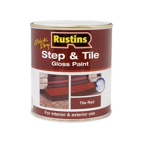 Rustins STRDW500 Quick Dry Step & Tile Paint Gloss Red 500ml