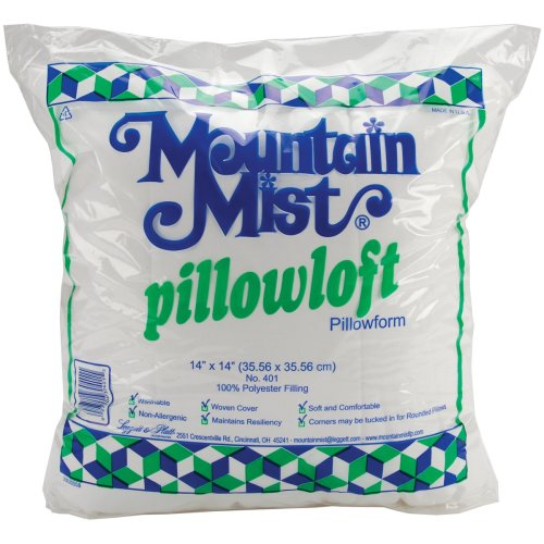 "Mountain Mist Pillowloft Pillowform-14""X14"" FOB: MI"