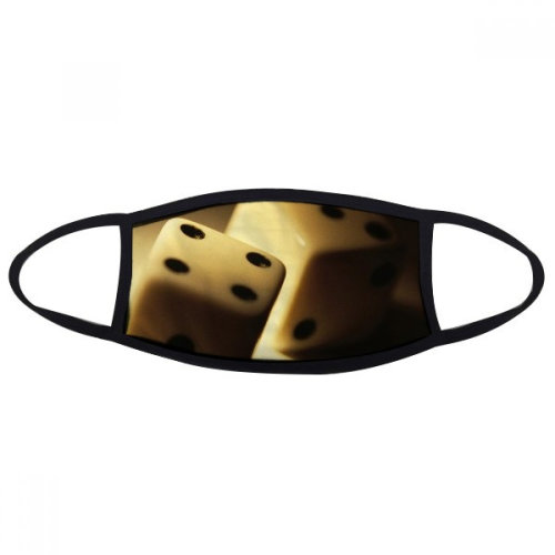 Dice Gambling Points Photo Mouth Face Anti-dust Mask Anti Cold Warm Washable Cotton Gift