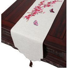 Coffee Table Runner Drape Modern Chinese Table Cloth Linen Cloth Table