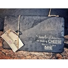 Engraved Rectangular Slate Serving Cheese Board Gift - 30x17cm