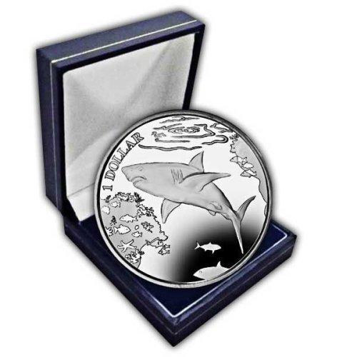 British Virgin Islands 2016 Great White Shark Unc. CuNi Coin in a box