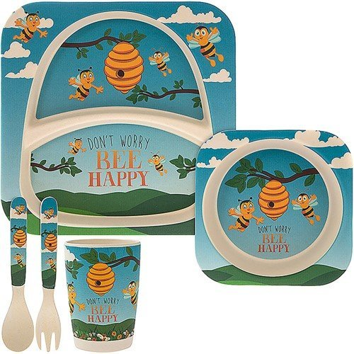 Bee Bamboo Eco-Friendly Baby 5 Piece Dinner Set