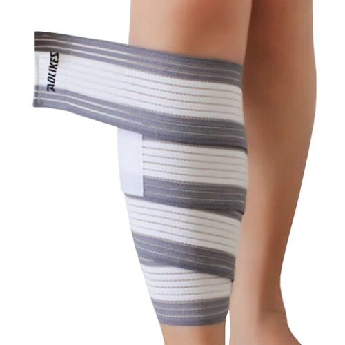Set of 2 Leg Guard Safety Protector Calf Leg Support Band Twine White/Grey