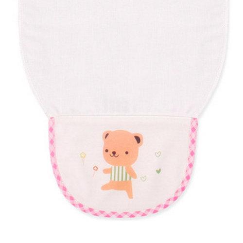 Cute Cartoon Baby Sweat Absorbent Towel Perspiration Wipes Towel,Brown Bear