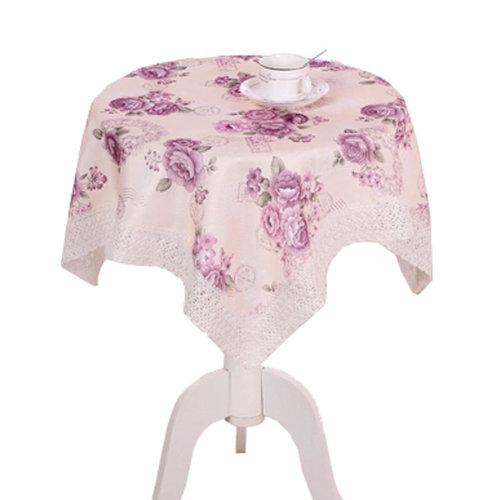 39*39 Inch Multi-Purpose Square/ Round Table Cloth Cover Tea Table Cloth, A