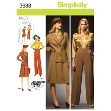 SIMPLICITY MISSES OR PLUS SIZE BLOUSE, S-20W - 28W