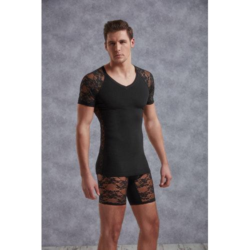 Doreanse T-Shirt Men - Black Large Men's Lingerie Shirts - Doreanse