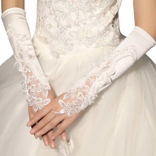 Bridal Wedding Gloves Party Dress Lace Long Gloves A13