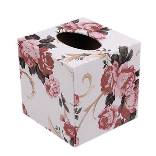 Square Elegant Tissue Boxs/Tissue Holders Peony 13.5*13.5*13.2CM