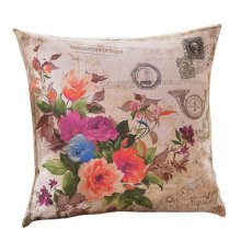 Concise Style Flowering Plant Throw Pillow Cushion Fashion Back Cushion Cover B
