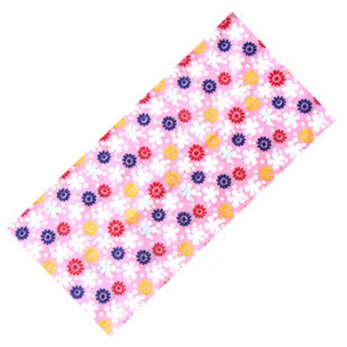 Versatile Sport Headwear/Headband/Hood Mask Neckerchief Flowers Pink