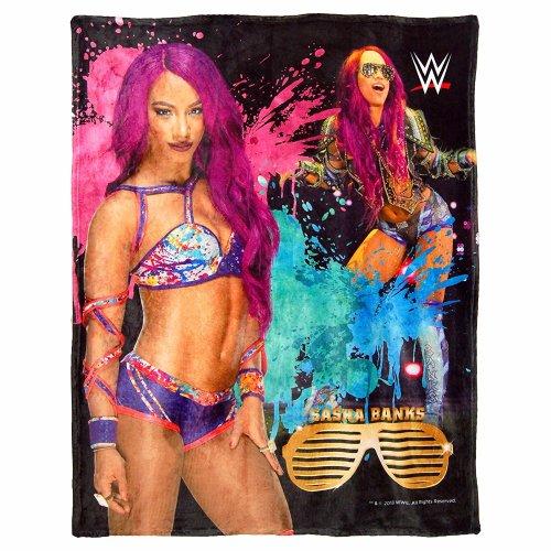 High Definition Super Soft Throws - WWE - Sasha Bank New 026039