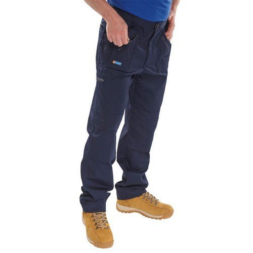 """Click AWTN30T Action Work Trousers Navy 30"""" Long"""