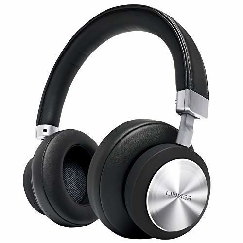 Linner NC90 Hybrid ANC BT Over-Ear Headphones For iPhone & Androids