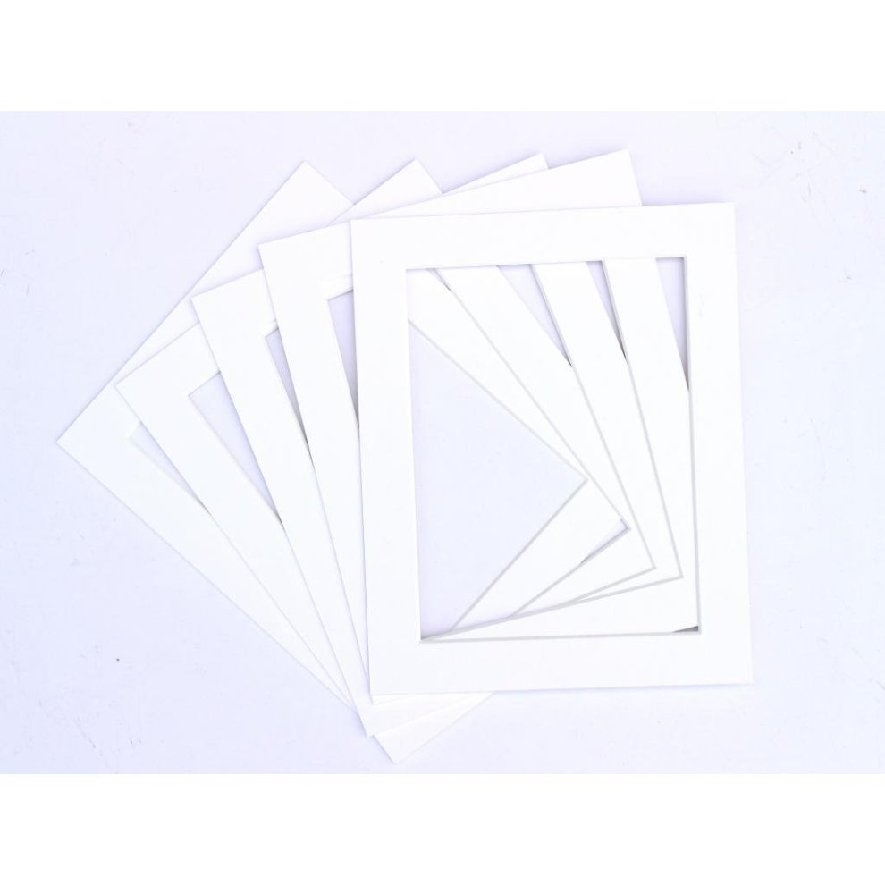 White Photo Frame Bevel Cut Mounts Various Sizes And Packs