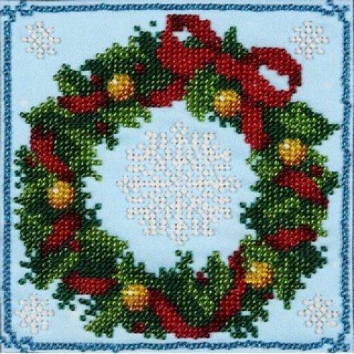 VDV Bead Embroidery Kit - Christmas Wreath
