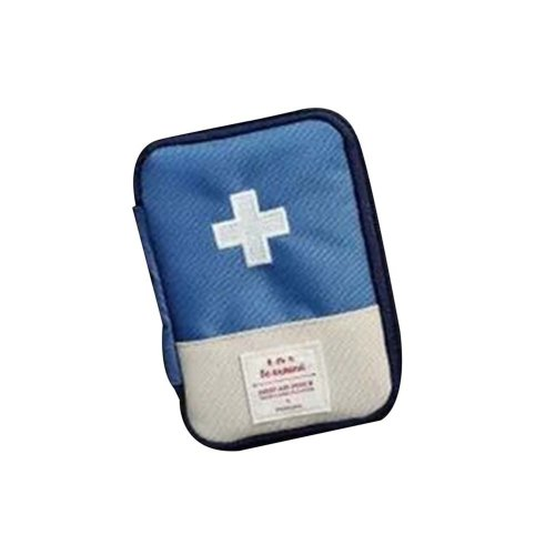 Unique Portable First Aid Kit Travel Medical Box for Camping, Hiking- Dark Blue