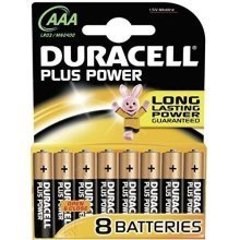 Duracell AAA Plus Power Battery - 8 Pack (Model No. MN2400B8PP)