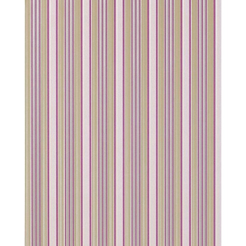 EDEM 825-25 stripe wallpaper light ivory lilac green-beige grey | 75 sq feet