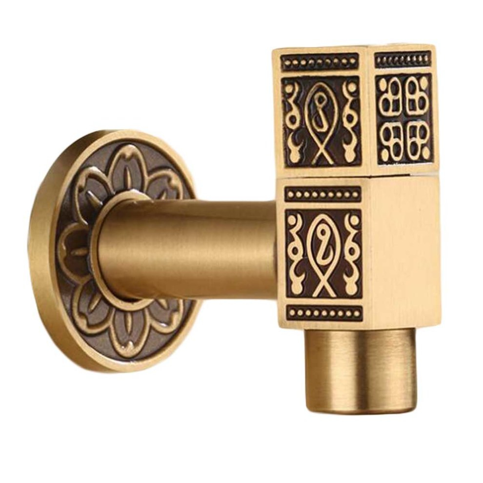Square] Brass Outdoor Antique Faucet Mop Pool Faucet Wall Faucet ...