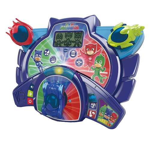 Vtech PJ Masks Super Learning Headquarters Games Tablet With  Catboy, Owlette and Gekko Vehicles Ages 3-6 Years