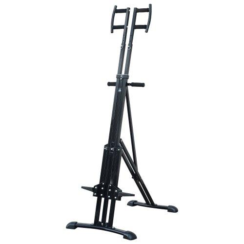 Homcom Vertical Cardio Climbing Stepper Machine with Armrest - Black