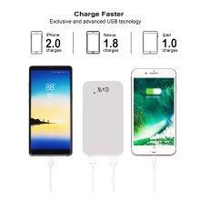 Power Bank 10000mAh Q4U® capacity power bank Fast charging White