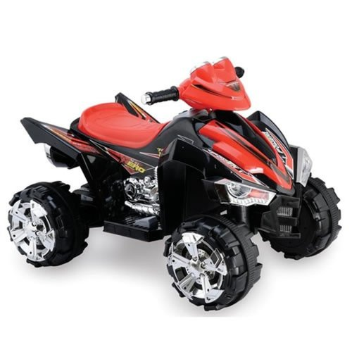 Predatour 12v Two Speed Electric Ride on Kids Quad Bike - Black