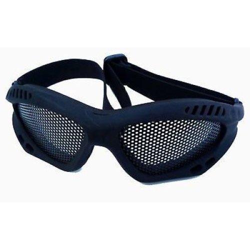 Airsoft Metal Mesh Goggles Paintball Black Fast Uk Del Dark Tan Strap