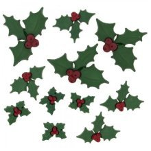 Holly Jolly - Novelty Christmas Craft Embellishments & Buttons by Dress It Up
