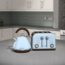 Morphy Richards Special Edition Accents Azure Blue Kettle and 4 Slice Toaster
