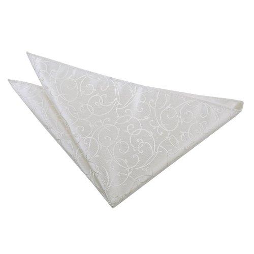 Ivory Swirl  Pocket Square