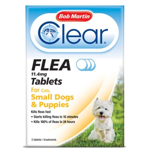 (Puppies & Small Dogs Under 11kg) Bob Martin Clear Cat & Dog Flea Tablets