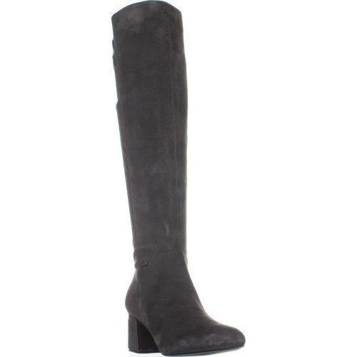 DKNY Cora Knee High Boots, Dark Gray Suede, 5.5 UK