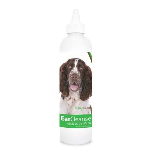 Healthy Breeds 840235106777 8 oz English Springer Spaniel Ear Cleanse with Aloe Vera Cucumber Melon