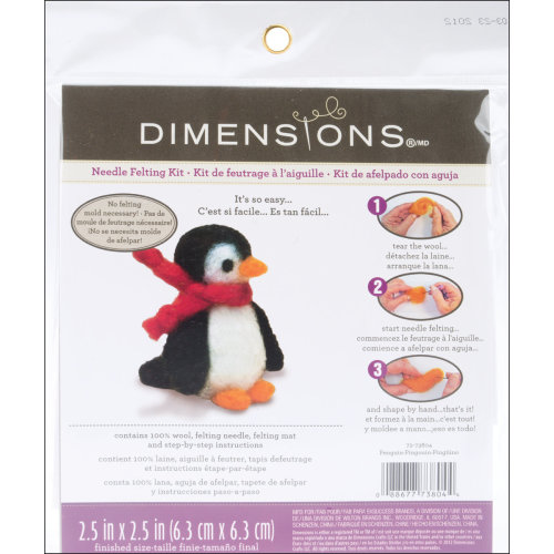 Dimensions Feltworks Needle Felting Kit-Penguin