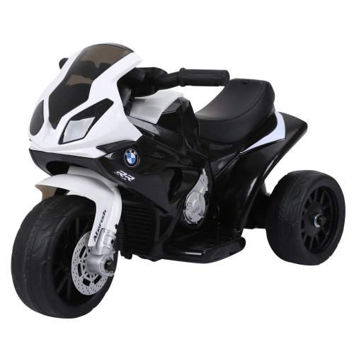 HOMCOM Compatible for Electric Kids Ride on Motorcycle w/ Headlights Music Battery Powered Play Bike 6V Black BMW S1000RR