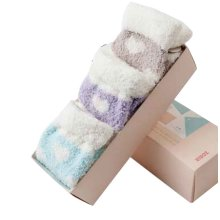 Set of 6 Fashion Fuzzy Socks Soft and Comfortable [B]
