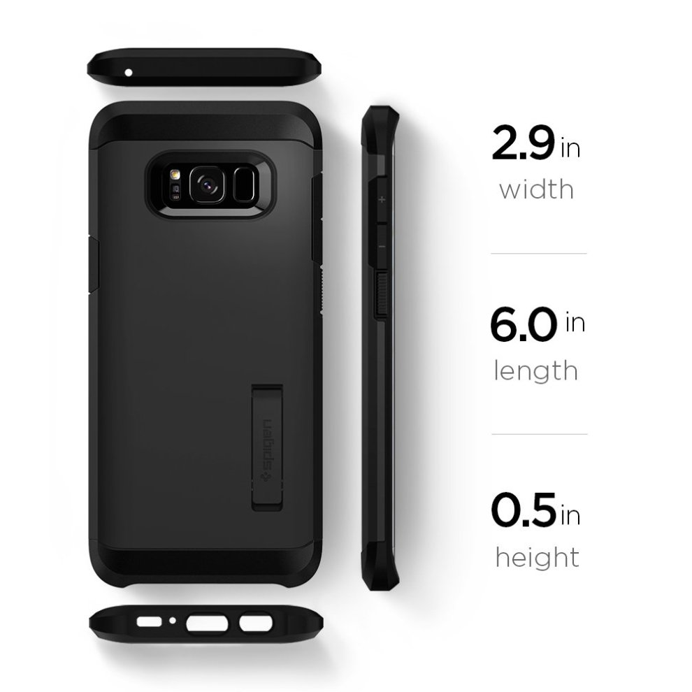 official photos d6ff0 171de Spigen Tough Armor Galaxy S8 Case with Kickstand and Extreme Heavy Duty  Protection and Air Cushion Technology for Samsung Galaxy S8 (2017) - Black