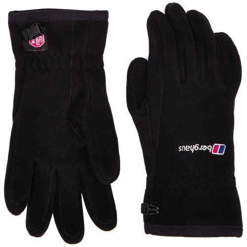 Berghaus Windproof Windystopper Adult's Outdoor Fleece Gloves available in Black - Small