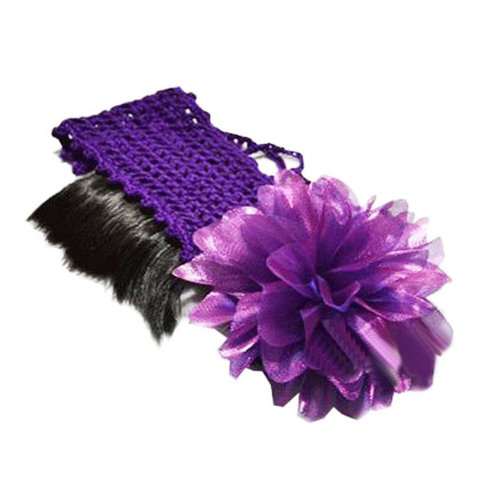 Beautiful Infant Baby Girl High Quaility Flower Hair Band Headband-Purple