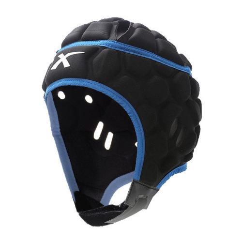 X Blades Elite Rugby Headguard Scrum Cap Head Protection Black/Blue